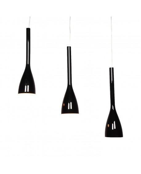 POTRÓJNA LAMPA SUFITOWA AMARRO BLACK W3
