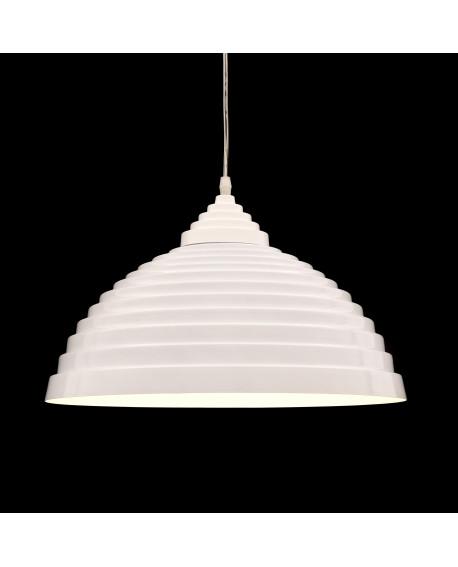 LAMPA WISZĄCA SUFITOWA BIAŁA POŁYSK 7620