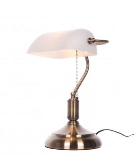 LAMPA BIURKOWA BANKER WHITE