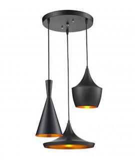 POTRÓJNA LAMPA LOFT FOGGI W3 BLACK