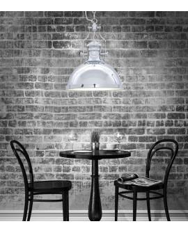 LAMPA WISZĄCA INDUSTRIALNA LOFT CHROMOWANA ETTORE