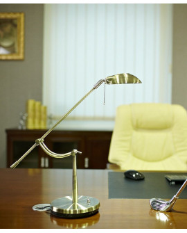 LAMPA BIURKOWA GOLF BRASS