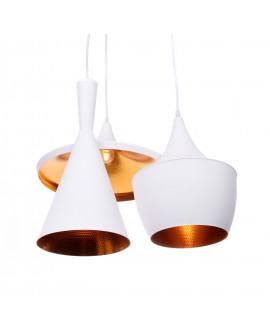 POTRÓJNA LAMPA LOFT FOGGI W3 WHITE