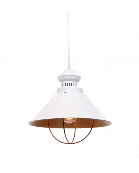 LAMPA WISZĄCA INDUSTRIALNA LOFT BIAŁA KUGAR