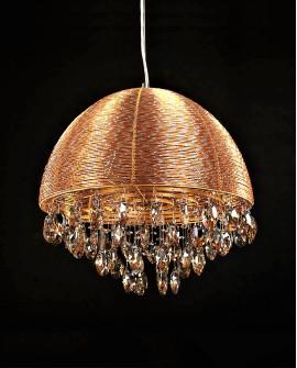 KRYSZTAŁOWA LAMPA WISZĄCA LEONELLA GOLD