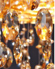 LAMPA WISZĄCA KRYSZTAŁOWA ZŁOTA LEONELLA