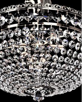 LAMPA SUFITOWA KRYSZTAŁOWA ANTYCZNE ZŁOTO 10644