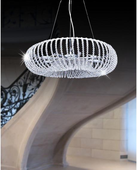 LAMPA KRYSZTAŁOWA GRAZIANA W9 SILVER