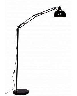 LAMPA STOJĄCA PODŁOGOWA CZARNA RIGORRIA