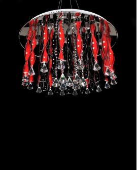 LAMPA WISZĄCA SUFITOWA ALVEDO RED