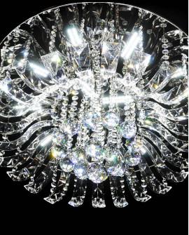 LAMPA SUFITOWA Z KRYSZTAŁAMI CERBERUS 450