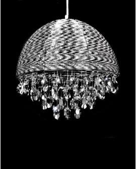 LAMPA WISZĄCA KRYSZTAŁOWA CZARNA LEONELLA