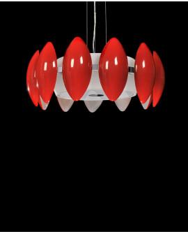 LAMPA WISZĄCA NOWOCZESNA FRASCATTI D55 RED
