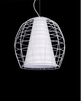 NOWOCZESNA LAMPA WISZĄCA BIAŁA BOLZANO
