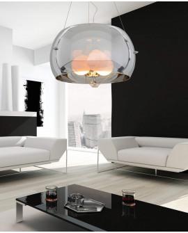 NOWOCZESNA LAMPA WISZĄCA CHROMOWANA STILIO D40