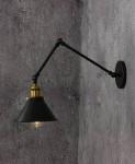LAMPA ŚCIENNA KINKIET LOFTOWY CZARNY GUBI W2
