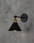 LAMPA ŚCIENNA KINKIET LOFTOWY CZARNY GUBI W1