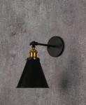 LAMPA ŚCIENNA KINKIET LOFTOWY CZARNY RUBI W1