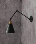 LAMPA ŚCIENNA KINKIET LOFTOWY CZARNY RUBI W2