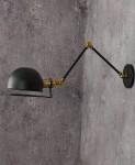 LAMPA ŚCIENNA KINKIET LOFTOWY CZARNY GLUM W2