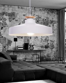 NOWOCZESNA LAMPA WISZĄCA BIAŁA LUDOR