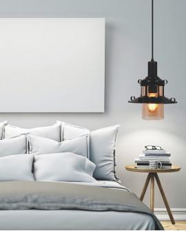 LAMPA WISZĄCA ZWIS CAPRI W1 BLACK