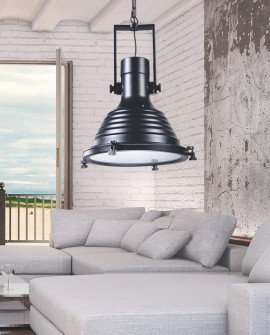 LOFT INDUSTRIALNA LAMPA BOTTI BLACK