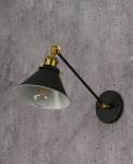 LAMPA ŚCIENNA KINKIET LOFTOWY CZARNY GUBI WT