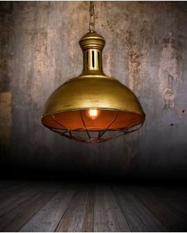 LAMPA WISZĄCA INDUSTRIALNA LOFT STARE ZŁOTO BOCCATO