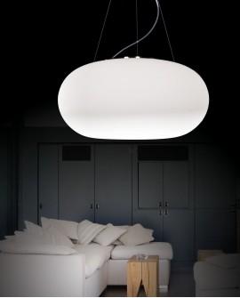 NOWOCZESNA LAMPA WISZĄCA BIAŁA FERMINO D38