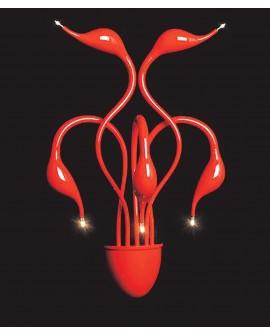 LAMPA ŚCIENNA KINKIET NOWOCZESNY MAGICA RED W5