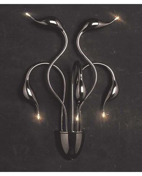 LAMPA ŚCIENNA KINKIET NOWOCZESNY MAGICA BLACK W5