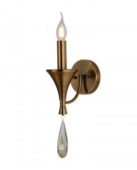 LAMPA ŚCIENNA KINKIET KLASYCZNY MOSIĘŻNY LIBERO W1