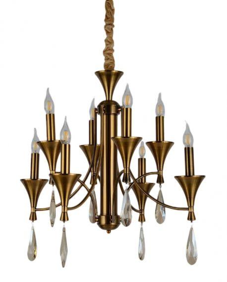 KLASYCZNA LAMPA WISZĄCA MOSIĘŻNA LIBERO W8