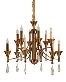 KLASYCZNA LAMPA WISZĄCA MOSIĘŻNA LIBERO W12