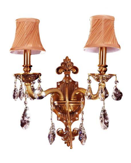 LAMPA ŚCIENNA KINKIET KRYSZTAŁOWY LUSSINARE W2