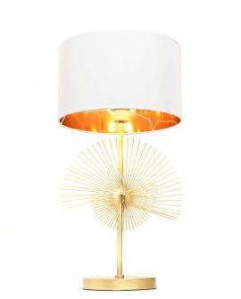 GLAMOUR LAMPA NOCNA BIAŁO-ZŁOTA FONTI