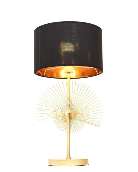 GLAMOUR LAMPA NOCNA CZARNO-ZŁOTA FONTI