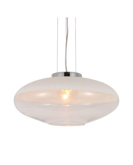 NOWOCZESNA LAMPA WISZĄCA BIAŁA RAVEO D40